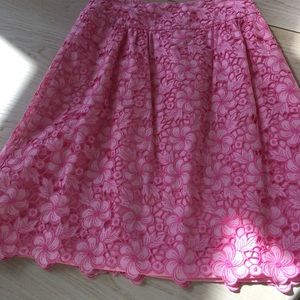 Lilly Pulitzer pink lace skirt